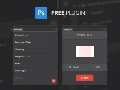 Templay psd addon tool 2015 2014 cc manager template adobe extension plugin photoshop