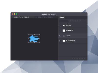 Photoshop Mini illustration tool extension plugin layers minimalist flat small mini mac app adobe