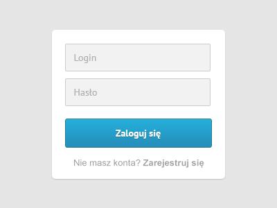 Login ui hasło password zaloguj się app web form retina hd @2x light fresh clean button up in sing login maketheweb magiera paweł note