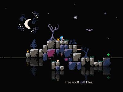 8x8 Pico 8 Free Tile pixelart