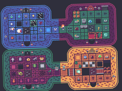 16x16 Top-Down Dungeon Game Assets