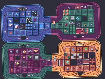 16x16 Top-Down Dungeon Game Assets gameart dungeon zeldalike pixel art 2d graphicdesign gamedev indiegame gamedesign design