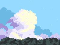 Pixelart clouds practise