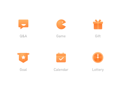 ICON lottery calendar goal gift game question qa icon
