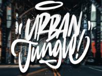 Urban jungle illustration illustrstion photoshop apple procreate minimalism minimal font script designer design graphic design hand lettering handlettering typoxphoto photography typography typo type