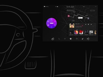Tesla Concept Art voice assistant design tesla ui ux