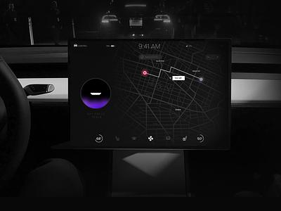 Tesla 3 Concept tesla design ux ui