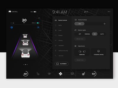 Tesla Concept voice assistant tesla ux design ui