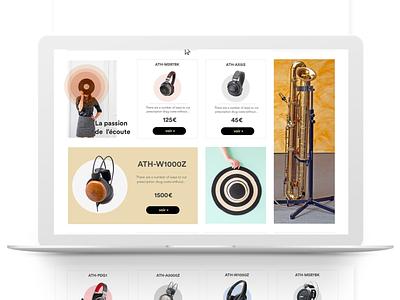 Audio-Technica Redesign product audiotechnica design ux ui
