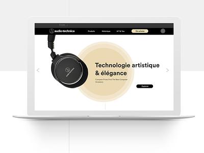 Audio-Technica Redesign audio audiotechnica design ux ui