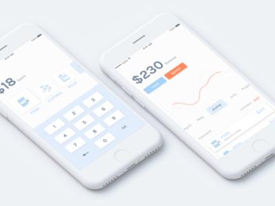 Wallet app design concept