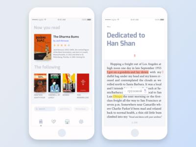 e-book app concept