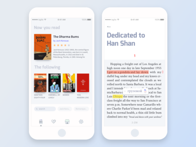 e-book app concept interface ux designer typography icon ios clean ux ui design app book