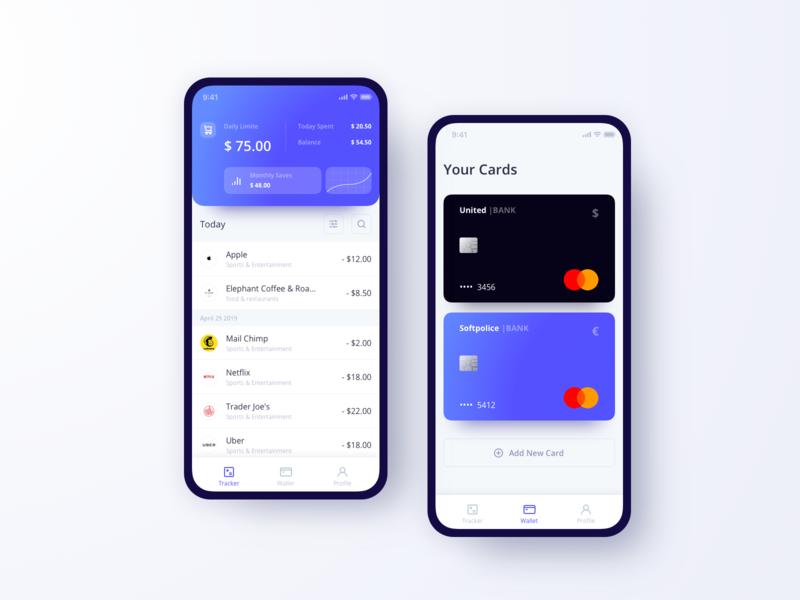 UGEM Budget Tracking App budget account bank card tracking wallet analysis ux ugem app banking ui mobile