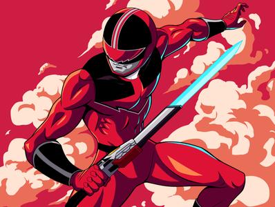 Time Fire panama illustration culture geek fanart art character design art direction red toku timeforce sentai power ranger