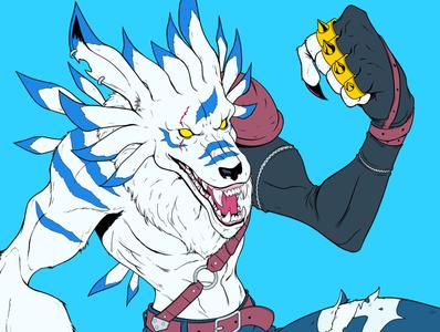 Weregarurumon comics wolf anime design panama 2000s character design weregarurumon garurumon digimon