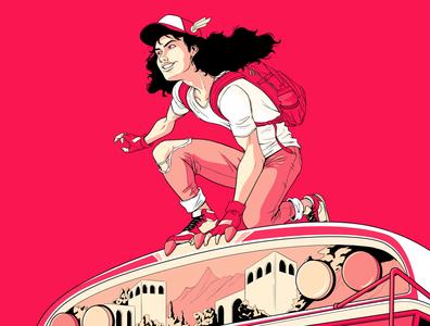 La Tanda del Bus centralamerica diablo rojo hispanic latin urban hiphop comics 90s 80s character design design illustration panama