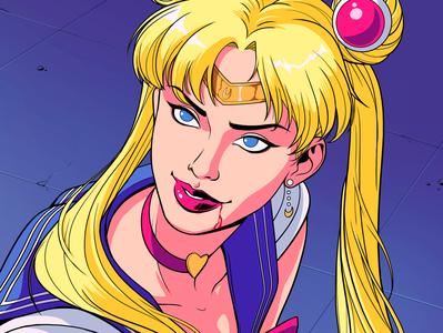 Sailor Moon redraw comics artdirection design character design illustration future funk 90s 80s anime challenge panama sailor moon moon sailor sailormoon