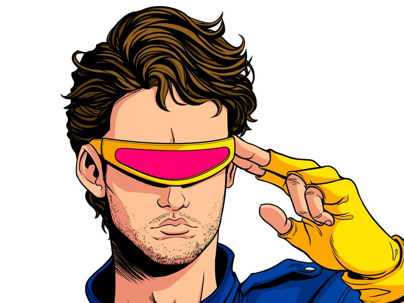 Cyclops Cosplay character design 90s xmen marvel cyclops artdirection 80s art panama design illustration