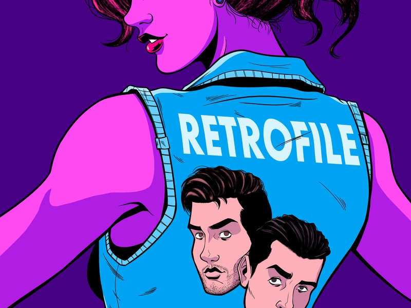 Retrofile Band Poster retro retrofile character design graphicdesign gig posters aesthetic synthwave woman art direction 90s 80s design panama illustration