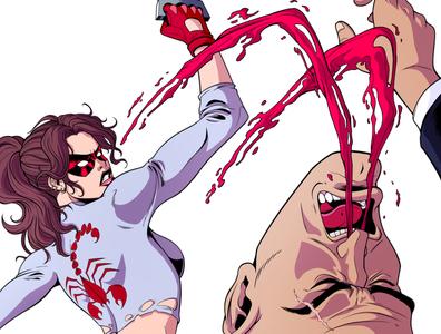 Beatdown city feminism punch fight comics artdirection 90s 80s illustration panama