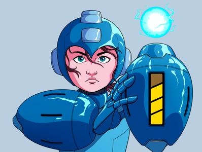 Rockman cover comics character design gamer videogames 90s 80s panama artdirection design robot megaman rockman