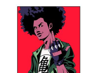 Super effective geek videogame music rap urban hiphop art art direction character design 80s 90s design panama illustration