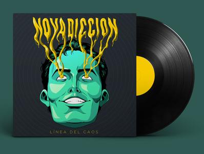 Novadiccion music art art direction illustration lettering trippy acid spotify artwork cover vinyl rock packaging music