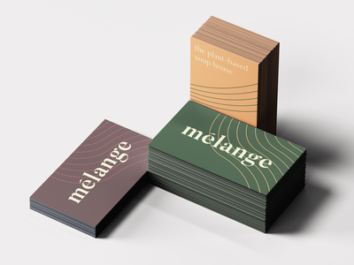 Mélange | Business Cards vegan stationary business card branding brand identity