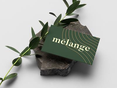 Mélange | Business Card green stationary business card vegan brand identity branding