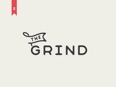 The Grind | Thirty Logos logo cafe type coffee logomark the grind grind thirty logos thirtylogos