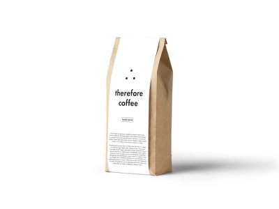 Therefore Coffee mockup simple design therefore coffee logomark icon type logo