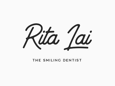 Rita Lai | Smiling Dentist logomark design type icon dentist logo logo dentist