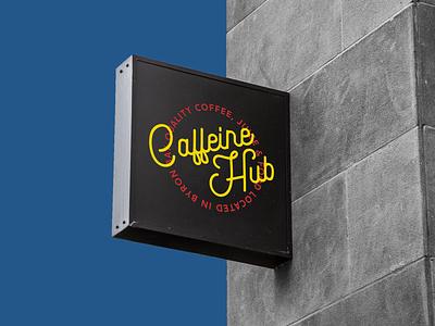 Caffeine Hub sign logo cafe coffee caffeine