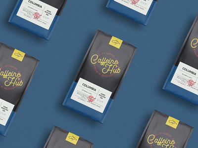 Caffeine Hub | Coffee Bag logo cafe design coffee bag design cafe coffee