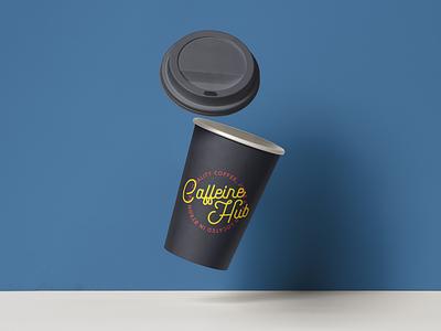 Caffeine Hub | Coffee Cups logo coffee cup cafe coffee