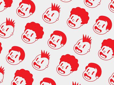Happy Dudes food restaurant red cartoon burger logo design logo