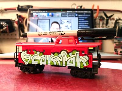 Train Car heart hand-drawn hand drawn camiah lettering
