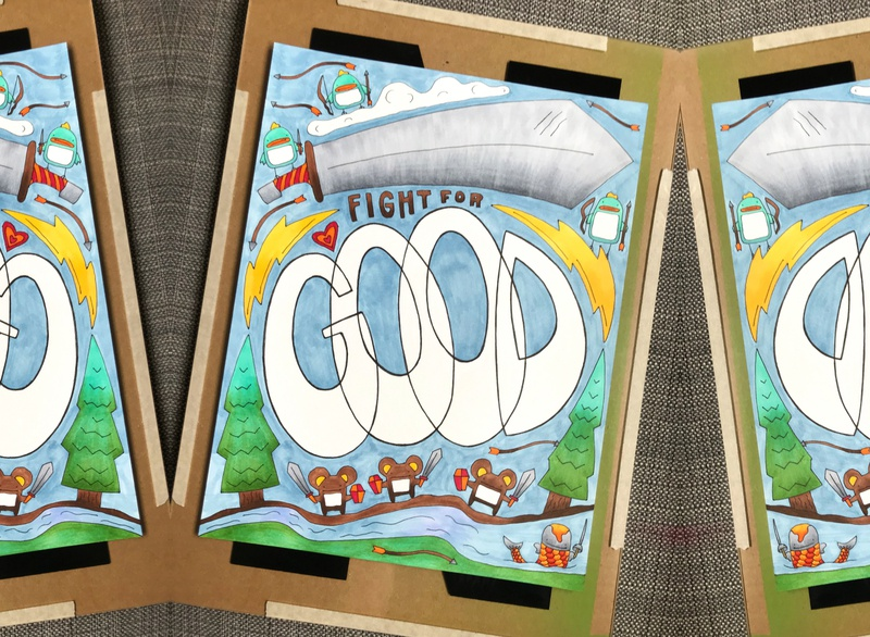 Fight for Good bolt good heart illustration hand-drawn hand drawn camiah lettering