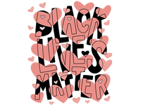 Black Lives Matter black lives matter blacklivesmatter heart hand-drawn hand drawn lettering camiah
