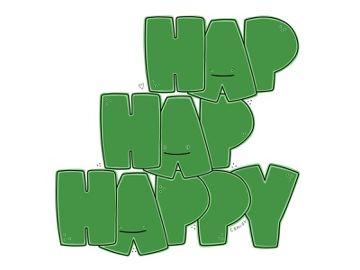 Hap Hap Happy heart illustration hand-drawn hand drawn camiah lettering