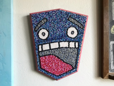 Big Beaded Smile illustration camiah face smile