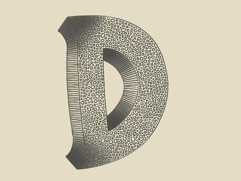 #Typehue Week 4: D lettering