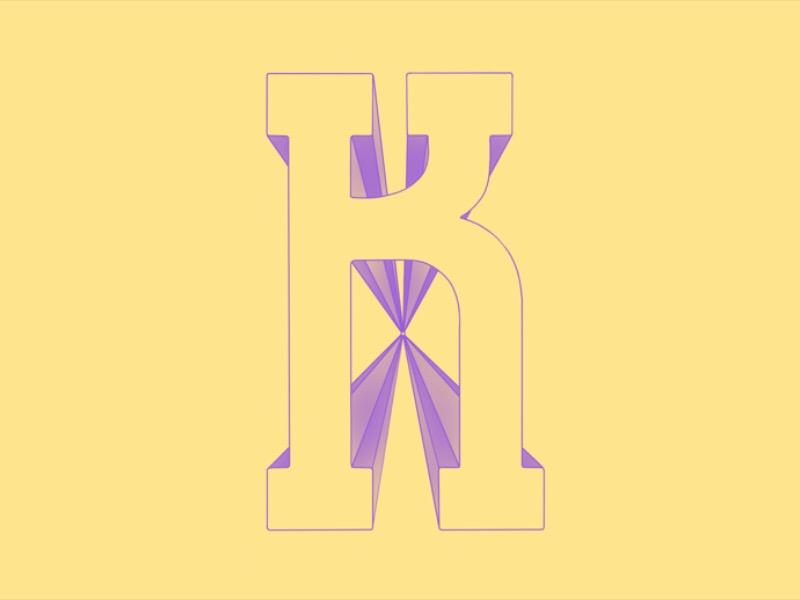 #Typehue Week 11: K lettering hand
