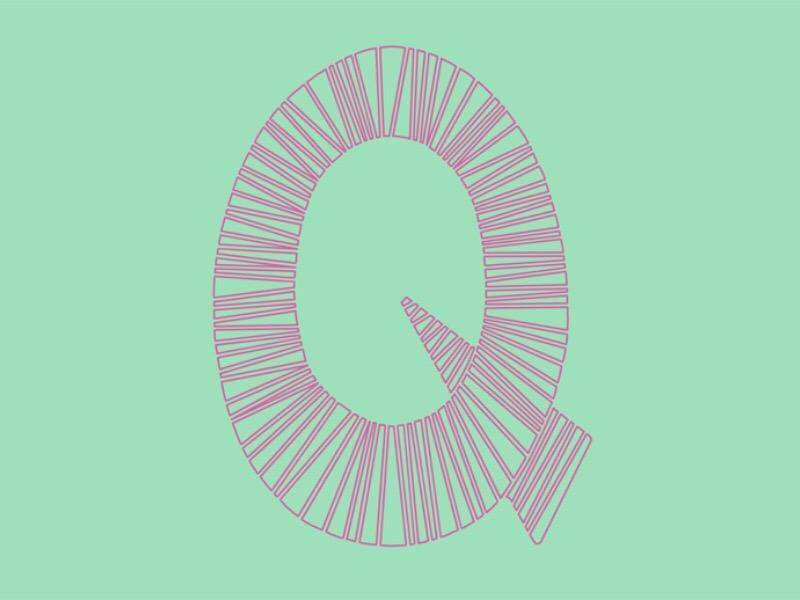 #Typehue Week 17: Q lettering hand drawn