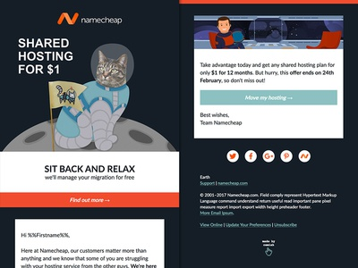 Namecheap Email emaildesign email camiah