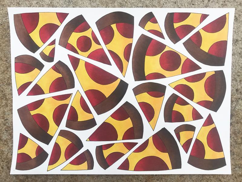 I'll Take a Slice pizza marker copic
