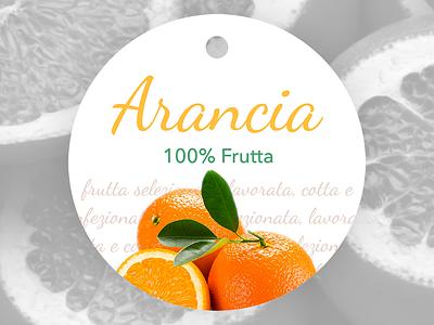 Label orange jam packaging graphic design label jam food orange fruit