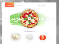 Gourmet italy simple tomato pizza photography recipe web design food ux ui