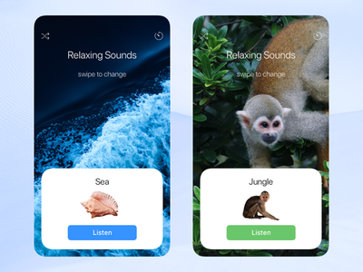 Relaxing Sounds ios concept nature jungle sea relax airpods iphone sound music ui